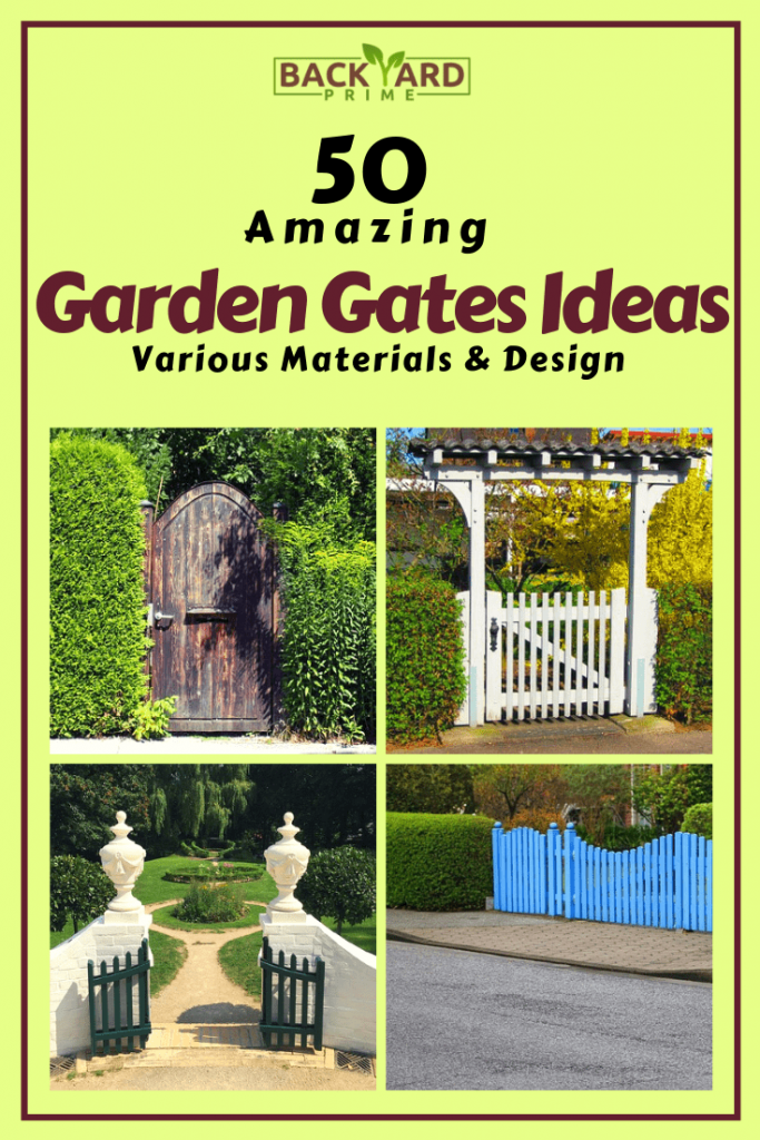 50 Amazing Garden Gates Ideas to Try Today {various materials and design} 19