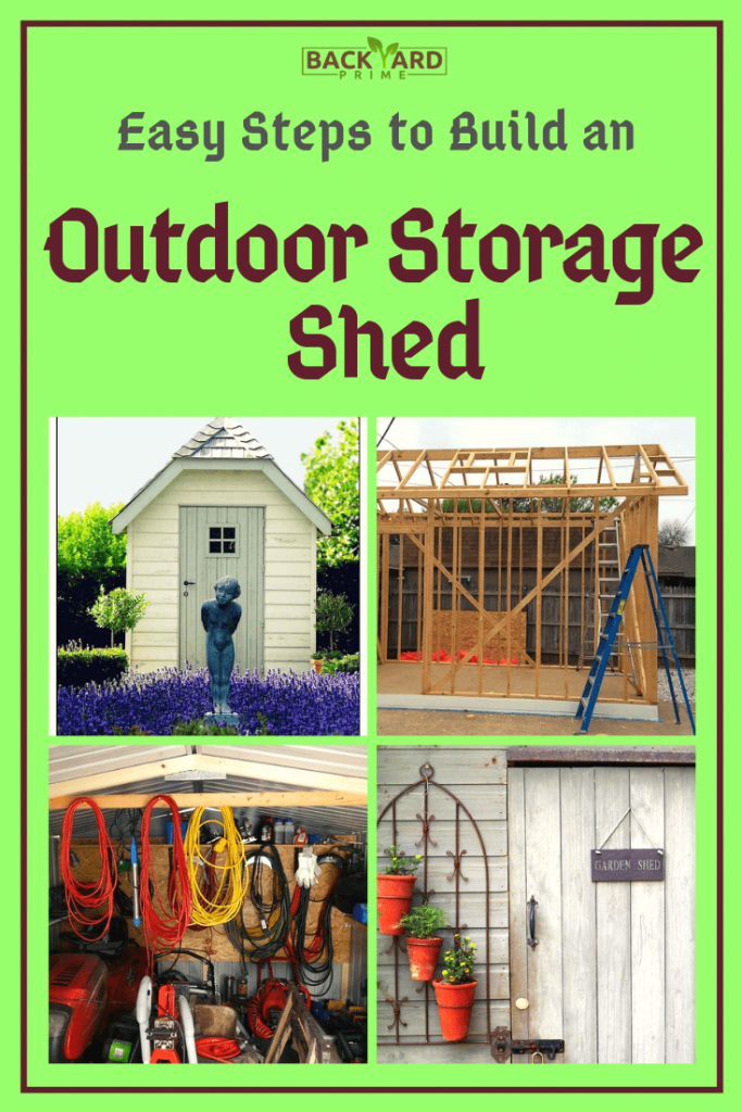 8 Easy Steps to Build an Outdoor Storage Shed for Garden 11